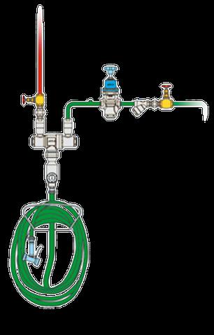 Ejemplo instalación mezclador de agua vapor