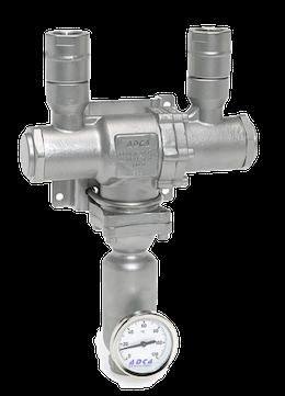 Mezclador de agua vapor para generar agua caliente
